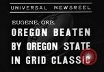 Image of American football match Eugene Oregon USA, 1939, second 9 stock footage video 65675070956