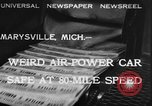 Image of air powered car Marysville Michigan USA, 1932, second 1 stock footage video 65675070962