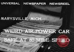 Image of air powered car Marysville Michigan USA, 1932, second 5 stock footage video 65675070962