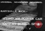 Image of air powered car Marysville Michigan USA, 1932, second 6 stock footage video 65675070962