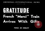 Image of train of gifts New York United States USA, 1949, second 1 stock footage video 65675070978