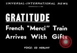 Image of train of gifts New York United States USA, 1949, second 5 stock footage video 65675070978