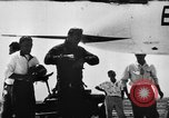 Image of First test flight of the Douglas F5D Skylancer aircraft California USA, 1956, second 1 stock footage video 65675070984