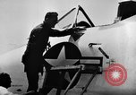 Image of First test flight of the Douglas F5D Skylancer aircraft California USA, 1956, second 5 stock footage video 65675070984