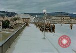 Image of German prisoners of war cross Nibelungen bridge over Donau River Linz Austria, 1945, second 7 stock footage video 65675070988