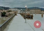 Image of German prisoners of war cross Nibelungen bridge over Donau River Linz Austria, 1945, second 8 stock footage video 65675070988