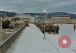 Image of German prisoners of war cross Nibelungen bridge over Donau River Linz Austria, 1945, second 9 stock footage video 65675070988