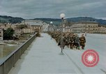 Image of German prisoners of war cross Nibelungen bridge over Donau River Linz Austria, 1945, second 10 stock footage video 65675070988