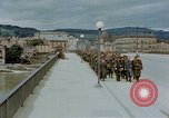 Image of German prisoners of war cross Nibelungen bridge over Donau River Linz Austria, 1945, second 11 stock footage video 65675070988