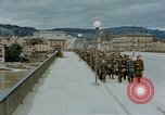 Image of German prisoners of war cross Nibelungen bridge over Donau River Linz Austria, 1945, second 12 stock footage video 65675070988