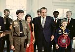 Image of Boy Scouts meet President Richard Nixon Washington DC USA, 1974, second 4 stock footage video 65675071003