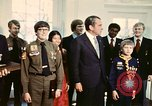 Image of Boy Scouts meet President Richard Nixon Washington DC USA, 1974, second 8 stock footage video 65675071003