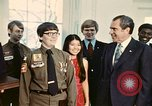 Image of Boy Scouts meet President Richard Nixon Washington DC USA, 1974, second 12 stock footage video 65675071003