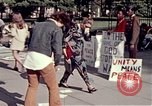 Image of White House demonstrations Washington DC USA, 1972, second 8 stock footage video 65675071006