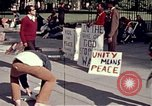 Image of White House demonstrations Washington DC USA, 1972, second 10 stock footage video 65675071006