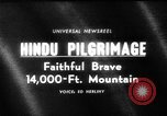 Image of Hindu pilgrimage India, 1965, second 1 stock footage video 65675071048