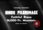 Image of Hindu pilgrimage India, 1965, second 5 stock footage video 65675071048