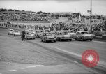 Image of jalopies crashed at demolition derby United Kingdom, 1965, second 9 stock footage video 65675071050