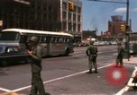 Image of United States soldiers on Guard duty in City Detroit Michigan USA, 1967, second 10 stock footage video 65675071096