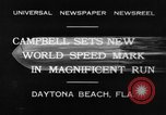 Image of new world speed record Daytona Beach Florida USA, 1932, second 2 stock footage video 65675071112