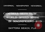 Image of new world speed record Daytona Beach Florida USA, 1932, second 3 stock footage video 65675071112