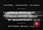 Image of new world speed record Daytona Beach Florida USA, 1932, second 4 stock footage video 65675071112