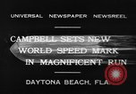 Image of new world speed record Daytona Beach Florida USA, 1932, second 5 stock footage video 65675071112