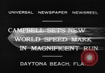 Image of new world speed record Daytona Beach Florida USA, 1932, second 7 stock footage video 65675071112