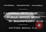 Image of new world speed record Daytona Beach Florida USA, 1932, second 8 stock footage video 65675071112