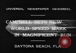 Image of new world speed record Daytona Beach Florida USA, 1932, second 9 stock footage video 65675071112
