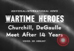 Image of Churchill and De Gaulle meeting Paris France, 1958, second 1 stock footage video 65675071114