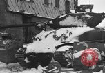 Image of US Soldiers examine damaged US M4 and German Panther tank Sterpigny Belgium, 1945, second 9 stock footage video 65675071156
