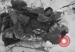 Image of Bodies of dead German soldiers in snow Ambleve Belgium, 1945, second 8 stock footage video 65675071159