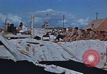 Image of Religious services at a bomb crater on Midway Island Pacific Ocean, 1942, second 7 stock footage video 65675071189