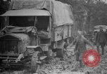 Image of trucks Sanzey Meurthe-et-Moselle France, 1918, second 7 stock footage video 65675071197