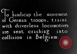 Image of Train collision World War I Belgium, 1916, second 1 stock footage video 65675071209