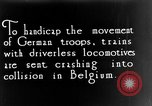 Image of Train collision World War I Belgium, 1916, second 2 stock footage video 65675071209