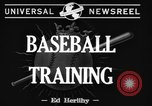 Image of NY Yankees and NY Giants in baseball spring training Atlantic City New Jersey USA, 1944, second 7 stock footage video 65675071249