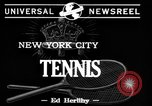 Image of Tennis match New York United States USA, 1944, second 2 stock footage video 65675071250