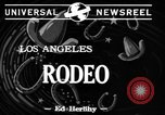 Image of Rodeo Los Angeles California USA, 1944, second 2 stock footage video 65675071251