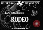 Image of Rodeo Los Angeles California USA, 1944, second 3 stock footage video 65675071251