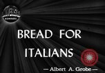 Image of bread Italy, 1944, second 1 stock footage video 65675071256
