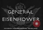 Image of Dwight D Eisenhower United Kingdom, 1944, second 2 stock footage video 65675071260