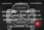 Image of Ford automobile plant expansion during depression Dearborn Michigan USA, 1932, second 5 stock footage video 65675071314
