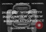 Image of Ford automobile plant expansion during depression Dearborn Michigan USA, 1932, second 8 stock footage video 65675071314
