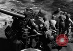 Image of invasion fleet Iwo Jima, 1945, second 5 stock footage video 65675071357