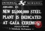 Image of steel plant Ashland Kentucky USA, 1941, second 1 stock footage video 65675071398