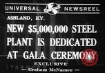 Image of steel plant Ashland Kentucky USA, 1941, second 6 stock footage video 65675071398