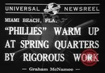 Image of Philadelphia Phillies Miami Beach Florida USA, 1941, second 6 stock footage video 65675071399