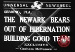 Image of Newark Bears Sebring Florida USA, 1941, second 1 stock footage video 65675071400